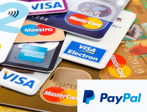 pay by card or paypal