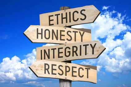Ethics and integrity as a value